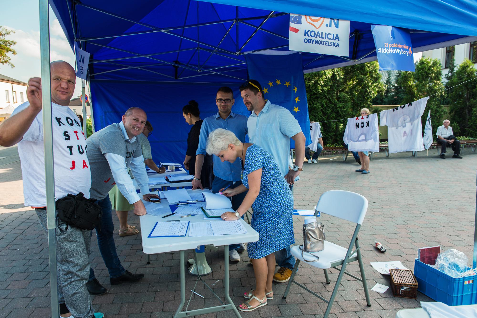 Zbieranie podpisów na listy wyborcze - wybory samorządowe 2018