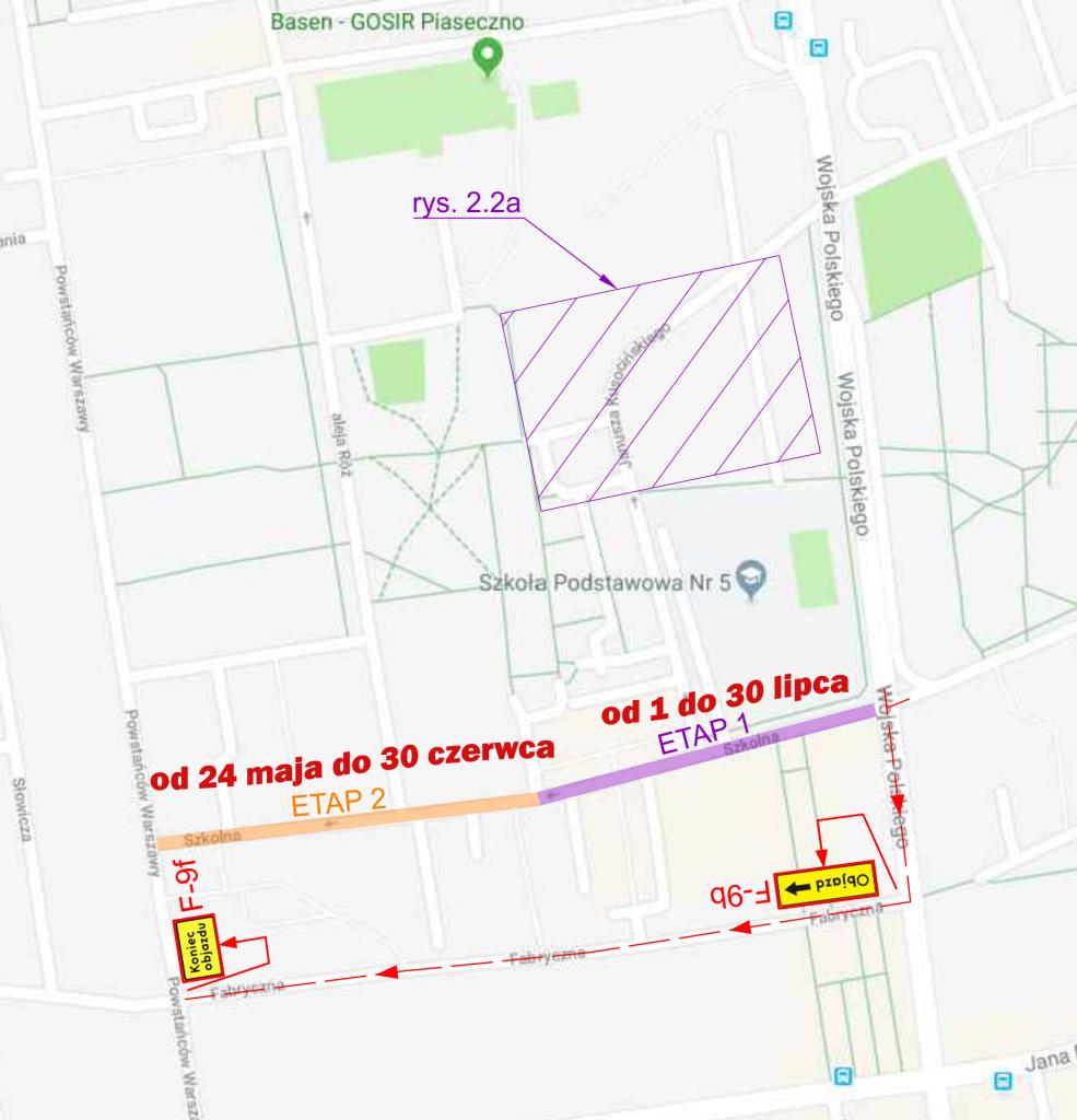 Przebudowa ulicy Szkolnej w Piasecznie