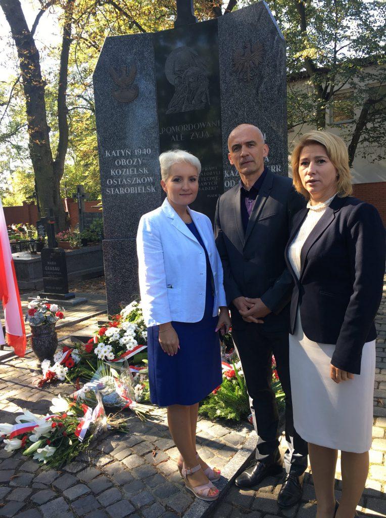 uroczystość przy piaseczyńskim pomniku ofiar sowieckiego zbrodniczego systemu, związane z 79. rocznicą agresji sowieckiej na Polskę