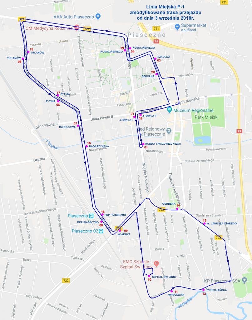 Wydłużenie trasy linii miejskiej P-1