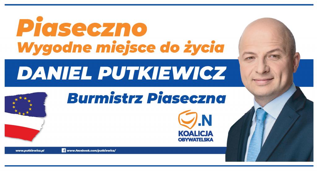 Daniel Putkiewicz na burmistrza Piaseczna