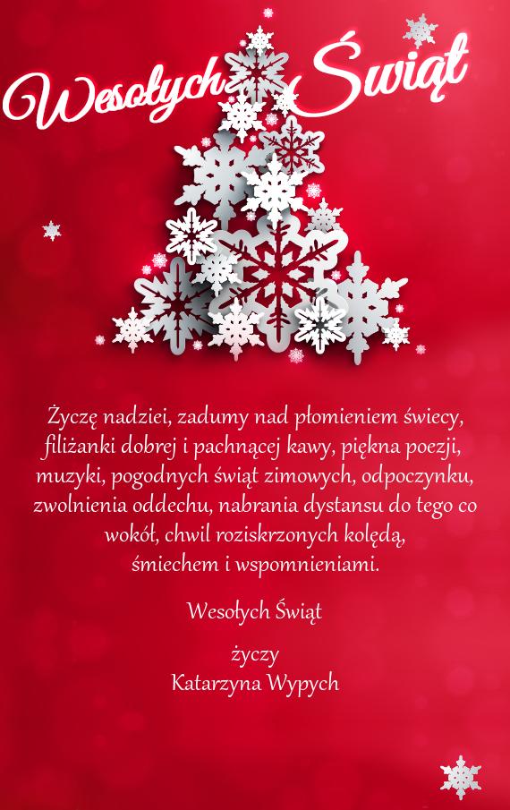 Świąteczne życzenia Boże Narodzenie