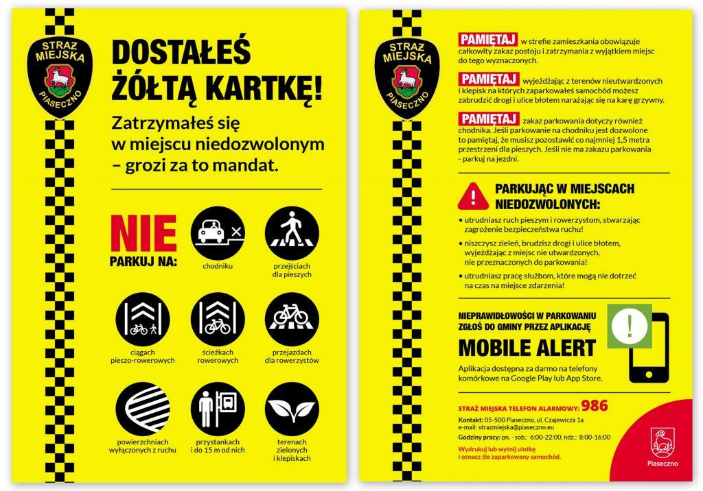 Parkuj z głową - żółta kartka dla kierowcy