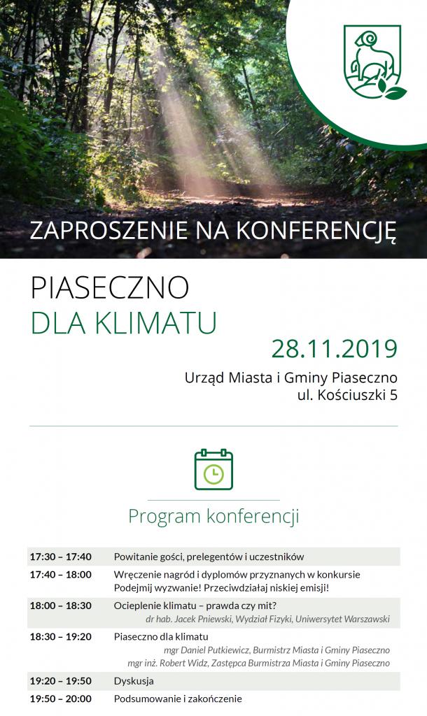 Konferencja Piaseczno dla klimatu