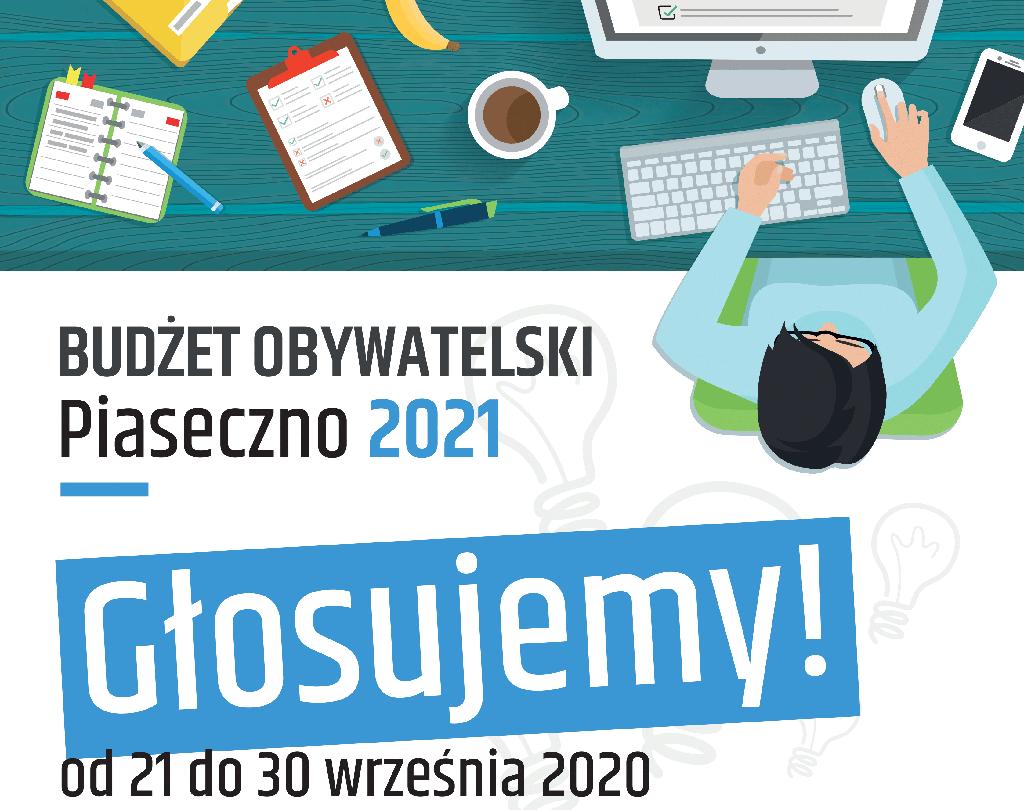 Głosowanie na projekty w ramach Budżetu Obywatelskiego w Piasecznie na rok 2021