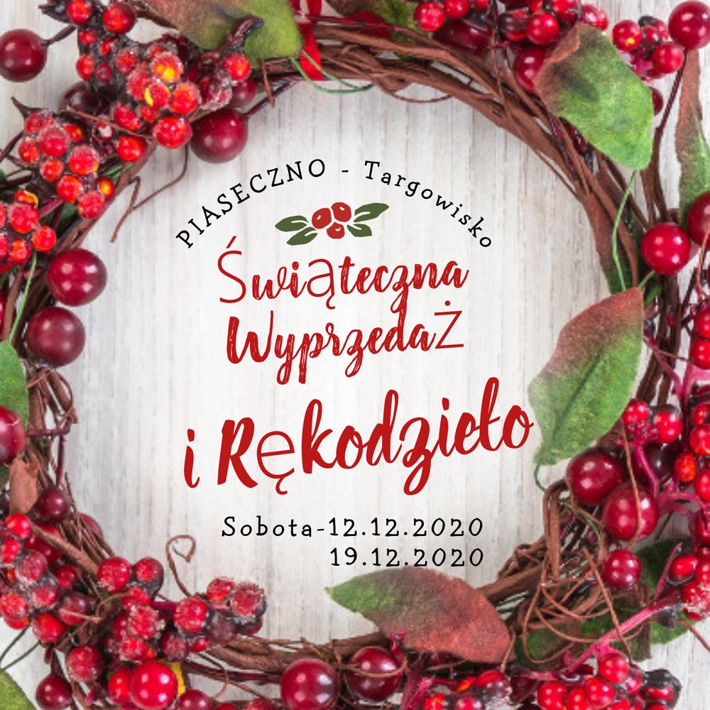Świąteczna wyprzedaż i rękodzieło na targowisku w Piasecznie