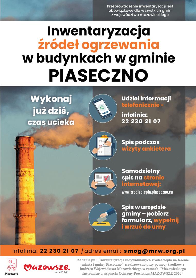Inwentaryzacja indywidualnych źródeł ciepła na terenie gminy Piaseczno
