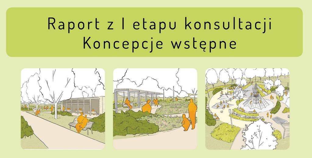 Wstępne koncepcje dla nowej części parku miejskiego w Piasecznie