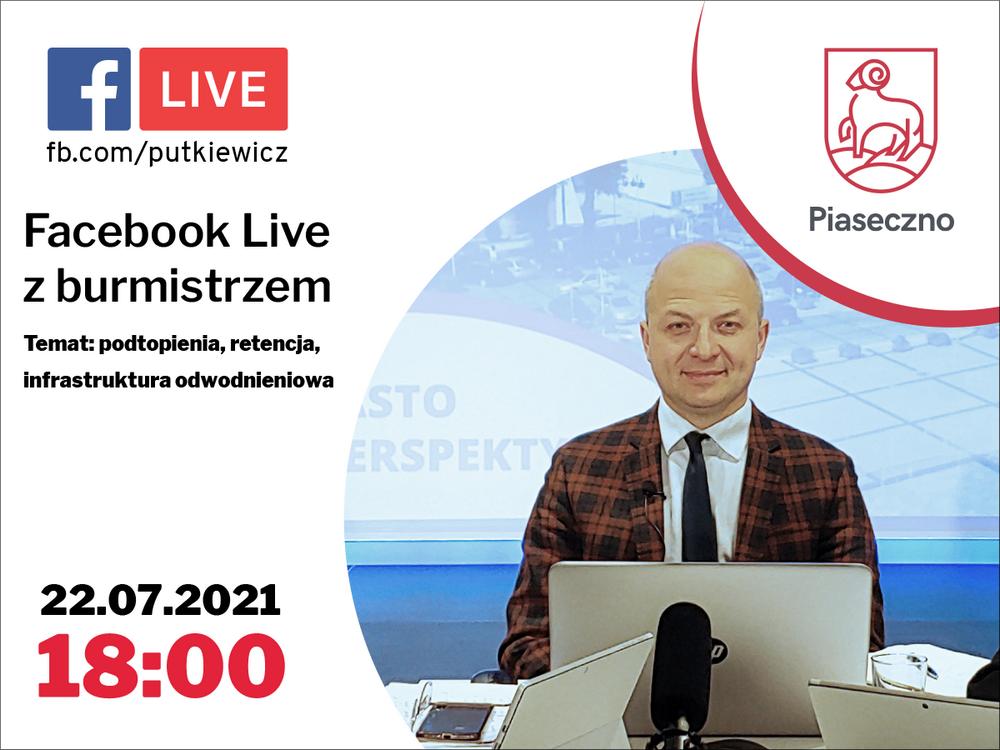 Podtopienia, retencja i infrastruktura odwodnieniowa - Facebook Live z burmistrzem Piaseczna