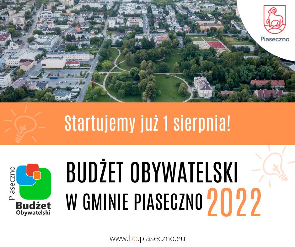 Budżet Obywatelski w gminie Piaseczno na rok 2022