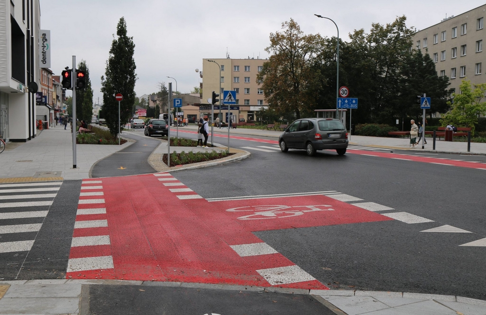 Nowa infrastruktura dla rowerzystów w Piasecznie, foto: Joanna Ferlian-Tchórzewska